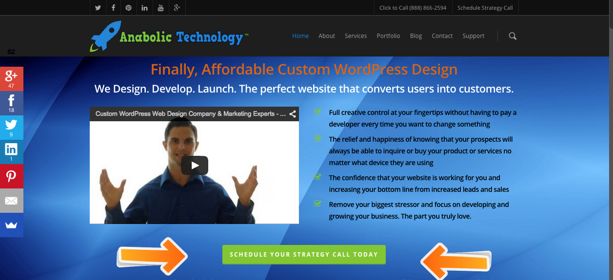 Responsive WordPress Design Desktop